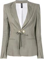 Marc Cain tie-front striped blazer