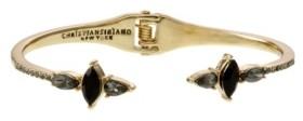 Christian Siriano Gold Tone Hinge Bracelet with Stones