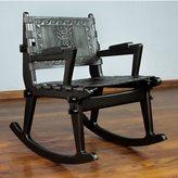 Novica Tornillo Wood and Leather 'Chavin Deities' Rocking Chair (Peru)