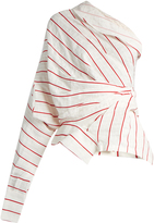 Awake Upside-down asymmetric striped top