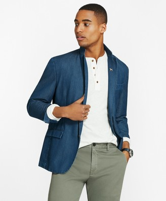 Brooks Brothers Chambray Two-Button Sport Coat