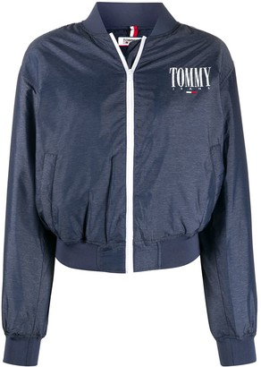 Tommy Jeans Logo Print Bomber Jacket