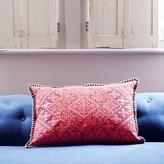 Graham and Green Primero Embroidered Pink Rectangular Cushion