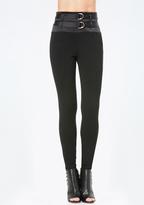 Bebe 2-Strap High Waist Leggings