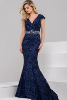 Jovani Elegant Evening Dress in Embroidered Lace 37588