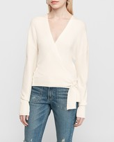 Express Wrap Front Side Tie Sweater