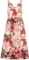 Adrianna Papell Sleeveless v neck fit and flare tea dress