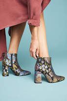 Anthropologie Printed Flare-Heeled Boots