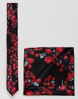 Asos Floral Tie & Pocket Square