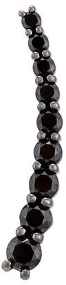 Black Diamond Alinka 'Dasha' left side large slider earring