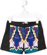 MSGM geometric print shorts