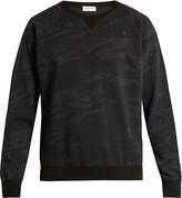 Saint Laurent Camouflage-print cotton-jersey sweatshirt