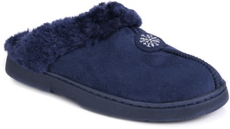 Muk Luks Women's Clog with Fur Lining Slipper