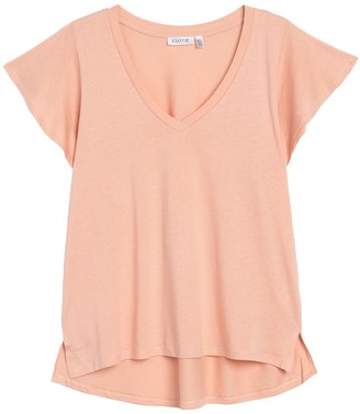 Cloth By Design Short Sleeve High/Low Top
