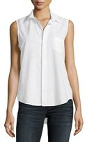 Frank And Eileen Fiona Sleeveless Italian Twill, White