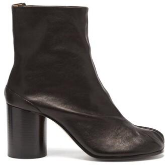Maison Margiela Tabi Split-toe Vintage-leather Ankle Boots - Black