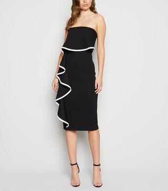 New Look Ruffle Bardot Bodycon Dress