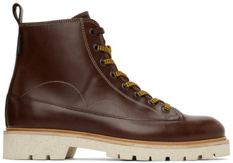 Paul Smith Brown Leather Buhl Boots