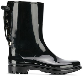 RED Valentino Laced-Up Rain Boots