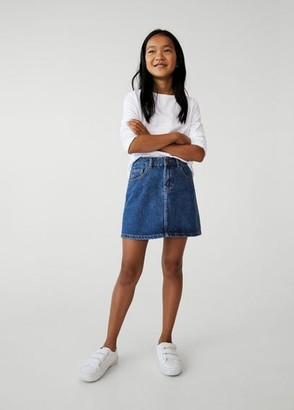 MANGO Medium denim skirt medium blue - 5 - Kids