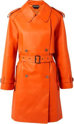 Tom Ford Leather Trench Coat