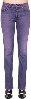 Ganni Slim Fit Washed Cotton Denim Jeans