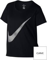 Nike Dry Swoosh T-Shirt (Plus Size) - Black