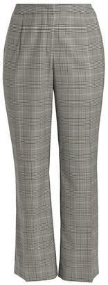 Lafayette 148 New York Lafayette 148 New York, Plus Size Dalton Virgin Wool Check Wide-Leg Pants