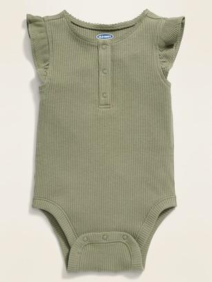 Old Navy Ruffle-Trim Henley Bodysuit for Baby