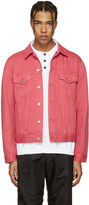 Acne Studios Pink Beat Denim Jacket