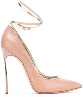 Casadei ankle strap pointed pumps - women - Calf Leather/Leather/Kid Leather - 35