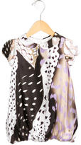 Roberto Cavalli Girls' Printed Silk Dress w/ Tags
