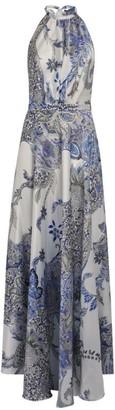 Raquel Diniz Silk Giovanna Halterneck Maxi Dress