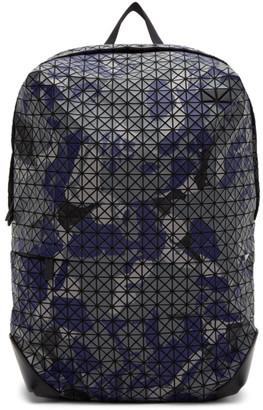 Bao Bao Issey Miyake Blue and Grey Camouflage Kuro Liner Backpack