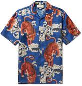 Gucci Camp-Collar Printed Silk-Twill Shirt
