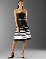Strapless Cotton Stripe Dress