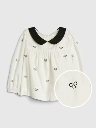 Gap Baby Bow Collar Top