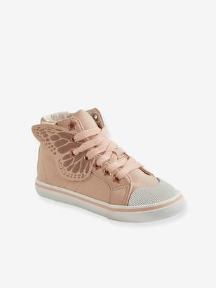 Vertbaudet Trainers with Zip + Laces & Butterfly, for Girls