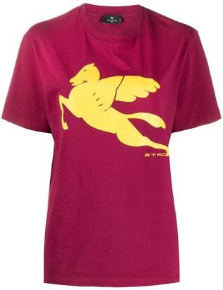 Etro logo-print crew neck T-shirt