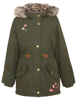 George Embroidered Faux Fur Lined Hooded Parka