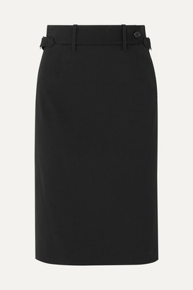 RED Valentino Stretch-gabardine Skirt - Black