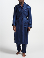 Derek Rose For John Lewis Silk Robe, Navy