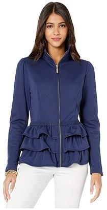 Lilly Pulitzer Azela Jacket (True Navy) Women's Clothing