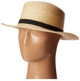 Lauren Ralph Lauren Wheat Straw Boater Hat Caps