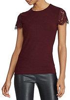 Lauren Ralph Lauren Lace Sleeve T-Shirt