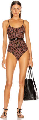 Alix Nyc ALIX NYC Drexel Printed Belted Swimsuit in Leopard   FWRD