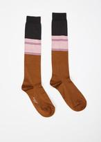 Marni gold brown pop sock ladies