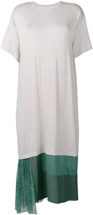 Y's panelled hem T-shirt dress