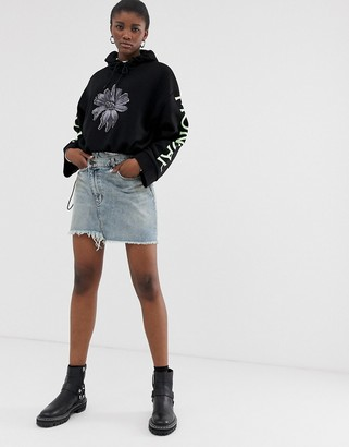Cheap Monday organic cotton denim mini skirt