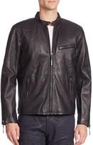 Polo Ralph Lauren Lambskin Leather Cafe Racer Jacket